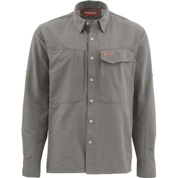 シムズ Simms メンズ シャツ トップス Guide Long - Sleeve Shirt Pewter|fermart3-store
