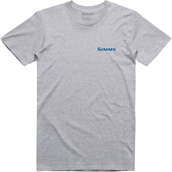 シムズ Simms メンズ Tシャツ トップス usa species t - shirts Grey Heather|fermart3-store