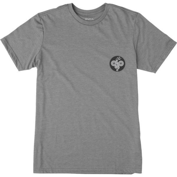 ルーカ RVCA メンズ Tシャツ トップス Serpent T-Shirt Grey Noise fermart3-store