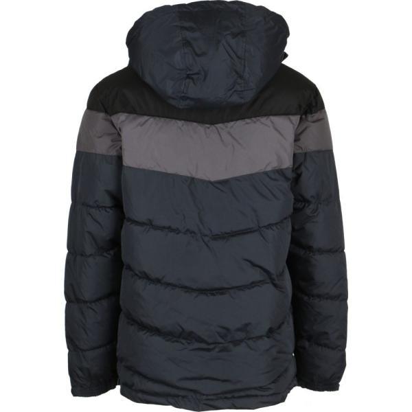リーボック Reebok メンズ ダウン・中綿ジャケット アウター Slanted Puffer Jacket Black/Medium Grey/Charcoal fermart3-store 02