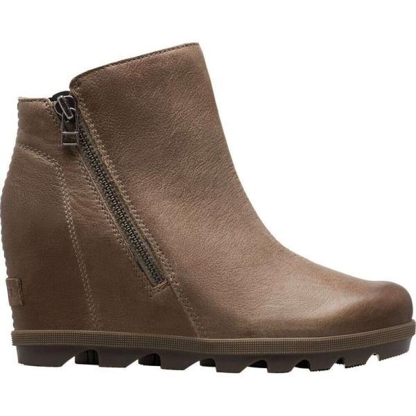 ソレル Sorel レディース ブーツ ウェッジソール シューズ・靴 joan of arctic wedge ii zip boot Ash Brown