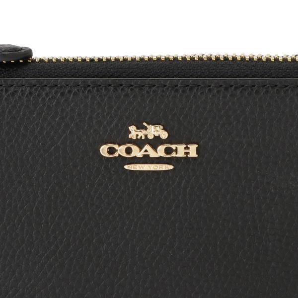 【即納】コーチ Coach レディース 財布 F73445 L-ZIP WALLET IMBLK 長財布 ロングウォレット Lジップ ペブルド|fermart3-store|07