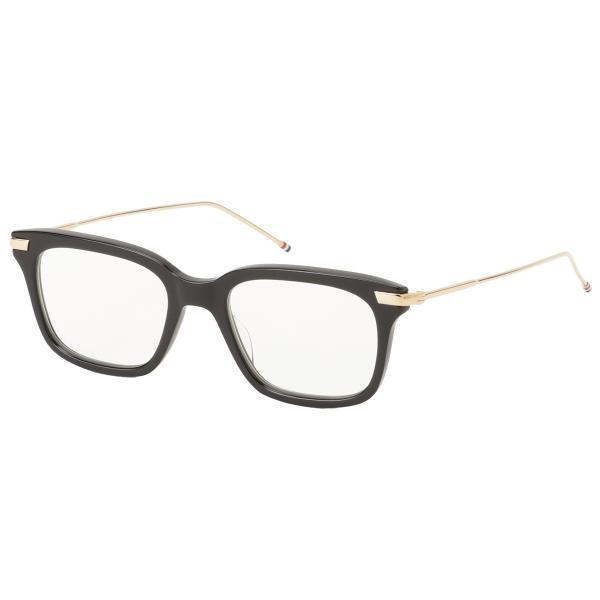 【即納】トム ブラウン Thom Browne メンズ メガネ・サングラス Glasses TB 701 a Black/White Gold ウェリントン 眼鏡|fermart3-store