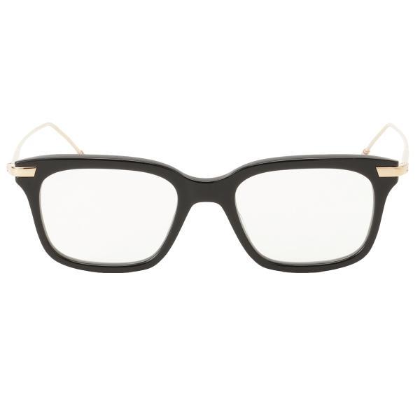 【即納】トム ブラウン Thom Browne メンズ メガネ・サングラス Glasses TB 701 a Black/White Gold ウェリントン 眼鏡|fermart3-store|02