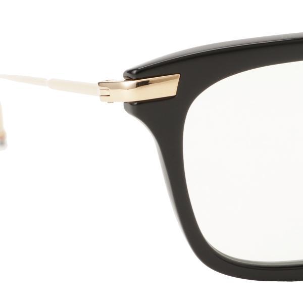 【即納】トム ブラウン Thom Browne メンズ メガネ・サングラス Glasses TB 701 a Black/White Gold ウェリントン 眼鏡|fermart3-store|05