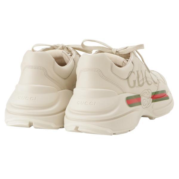 【即納】グッチ Gucci メンズ スニーカー シューズ・靴 Rhyton Leather Sneaker IVORY ロゴ fermart3-store 02
