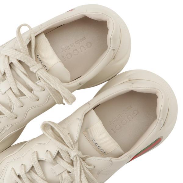 【即納】グッチ Gucci メンズ スニーカー シューズ・靴 Rhyton Leather Sneaker IVORY ロゴ fermart3-store 06