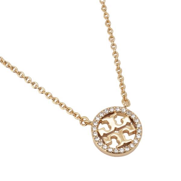 【即納】トリー バーチ Tory Burch レディース ネックレス ジュエリー・アクセサリー Crystal Logo Necklace 53420 Tory Gold / Crystal クリスタルロゴ fermart3-store