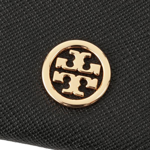 【即納】トリー バーチ Tory Burch レディース カードケース・名刺入れ Robinson Card Case 54886 Perfect Black ロゴ|fermart3-store|03
