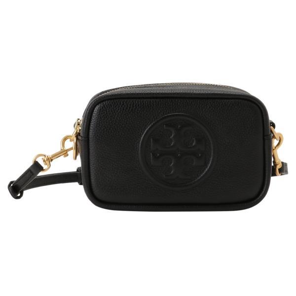 【即納】トリー バーチ Tory Burch レディース ショルダーバッグ バッグ Perry Bombe Mini Bag 55691 Perfect Black エンボスロゴ|fermart3-store