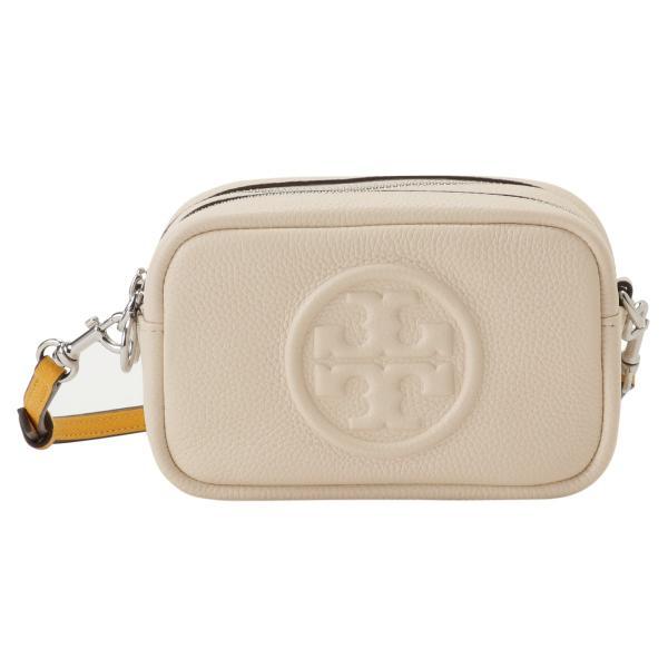 【即納】トリー バーチ Tory Burch レディース ショルダーバッグ バッグ Perry Bombe Mini Bag 55691 New Cream / Gold エンボスロゴ|fermart3-store