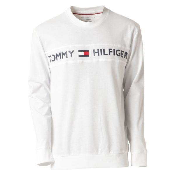 【即納】トミー ヒルフィガー Tommy Hilfiger メンズ 長袖Tシャツ トップス MODERN ESSENTIALS CREW NECK  WHITE ロンT ロングT ロゴ プリント fermart3-store