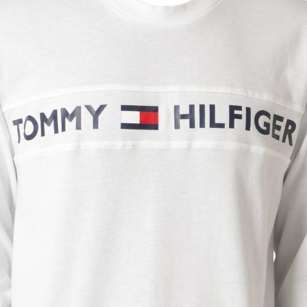 【即納】トミー ヒルフィガー Tommy Hilfiger メンズ 長袖Tシャツ トップス MODERN ESSENTIALS CREW NECK  WHITE ロンT ロングT ロゴ プリント fermart3-store 03