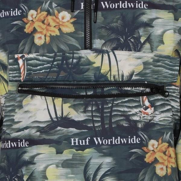 【即納】ハフ HUF メンズ ジャケット アウター アノラック VENICE PACKABLE ANORAK JACKET BLACK|fermart3-store|05