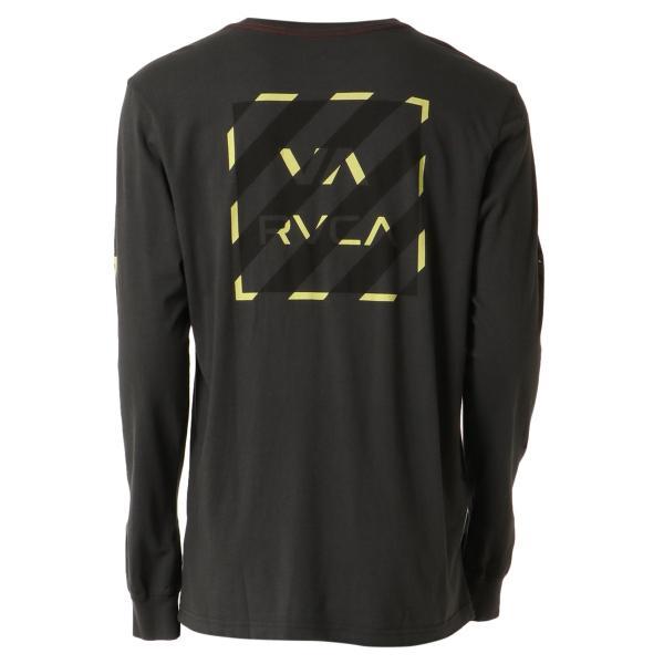【即納】ルーカ RVCA メンズ 長袖Tシャツ トップス Hazard L/S BLACK ロンT ロングT ロゴ バイアスプリント fermart3-store 02