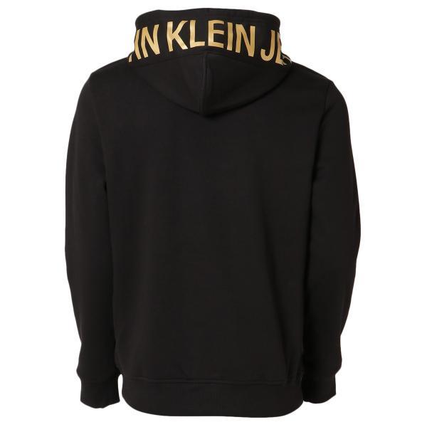 【即納】カルバンクライン Calvin Klein メンズ パーカー トップス NEW ICONIC GRAPHIC HOODIE BLACK フーディー フード|fermart3-store|02