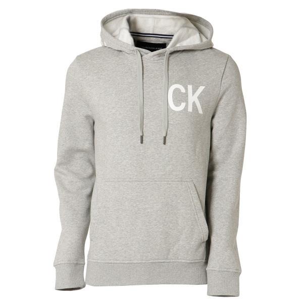 【即納】カルバンクライン Calvin Klein メンズ パーカー トップス NEW ICONIC GRAPHIC HOODIE MED CHARCOAL HTR フーディー フード|fermart3-store