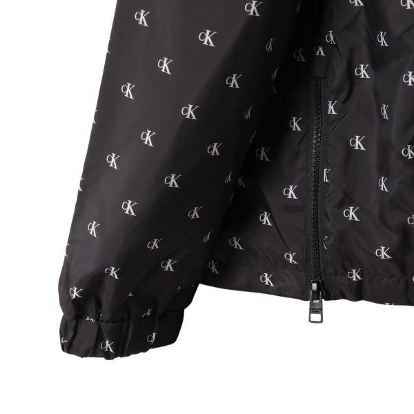 【即納】カルバンクライン Calvin Klein メンズ ジャケット アウター MONOGRAM AOP NYLON Jacket WHITE/BLACK  ロゴ総柄 フード フーディ ハーフジップ|fermart3-store|07