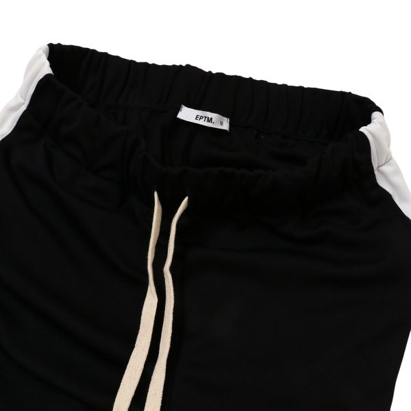 【即納】エピトミ EPTM メンズ スウェット・ジャージ ボトムス・パンツ TRACK PANTS BLACK トラックパンツ 裾ジップ サイドライン|fermart3-store|03
