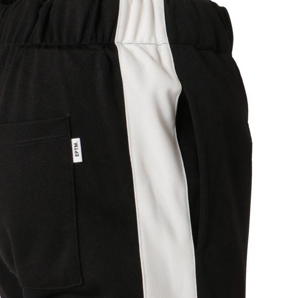 【即納】エピトミ EPTM メンズ スウェット・ジャージ ボトムス・パンツ TRACK PANTS BLACK トラックパンツ 裾ジップ サイドライン|fermart3-store|05