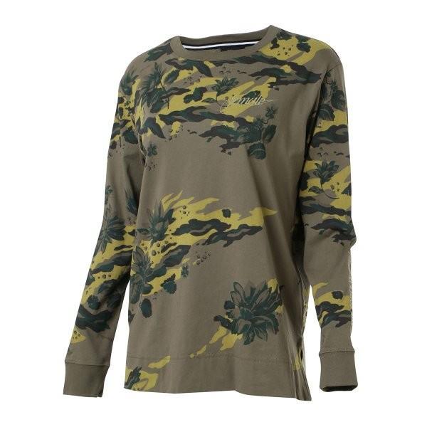【即納】ナイキ NIKE レディース 長袖Tシャツ トップス ロンT ロングT ロングスリーブ NIKE WOMEN CAMO LS TEE KHAKI|fermart3-store