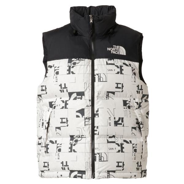 【即納】ザ ノースフェイス The North Face メンズ ベスト・ジレ トップス 1996 Retro  Nuptse Vest WHITE/BLACK マップ柄 ダウンベスト ヌプシ|fermart3-store
