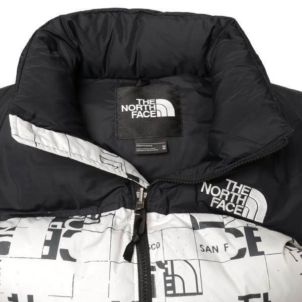 【即納】ザ ノースフェイス The North Face メンズ ベスト・ジレ トップス 1996 Retro  Nuptse Vest WHITE/BLACK マップ柄 ダウンベスト ヌプシ|fermart3-store|03