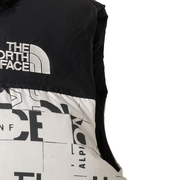 【即納】ザ ノースフェイス The North Face メンズ ベスト・ジレ トップス 1996 Retro  Nuptse Vest WHITE/BLACK マップ柄 ダウンベスト ヌプシ|fermart3-store|04