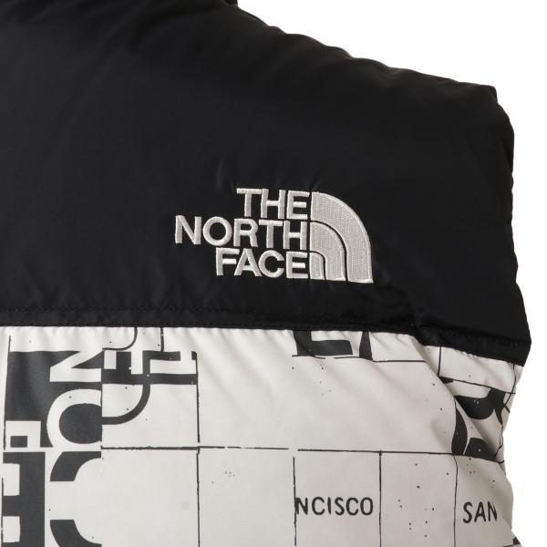 【即納】ザ ノースフェイス The North Face メンズ ベスト・ジレ トップス 1996 Retro  Nuptse Vest WHITE/BLACK マップ柄 ダウンベスト ヌプシ|fermart3-store|05