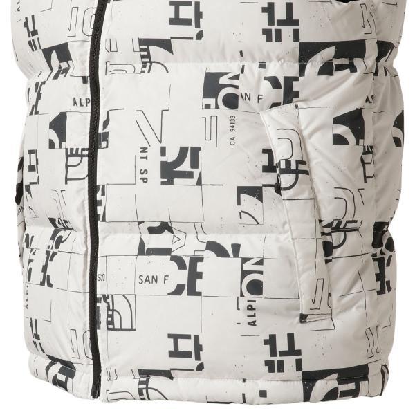 【即納】ザ ノースフェイス The North Face メンズ ベスト・ジレ トップス 1996 Retro  Nuptse Vest WHITE/BLACK マップ柄 ダウンベスト ヌプシ|fermart3-store|07