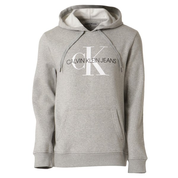 【即納】カルバンクライン Calvin Klein メンズ パーカー トップス CK MONOGRAM LOGO HOODIE MED CHAR HTHR モノグラム プルオーバー フーディ フード|fermart3-store
