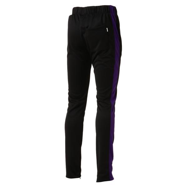 【即納】エピトミ EPTM メンズ スウェット・ジャージ ボトムス・パンツ TRACK PANTS BLACK/PURPLE トラックパンツ 裾ジップ サイドライン|fermart3-store|02