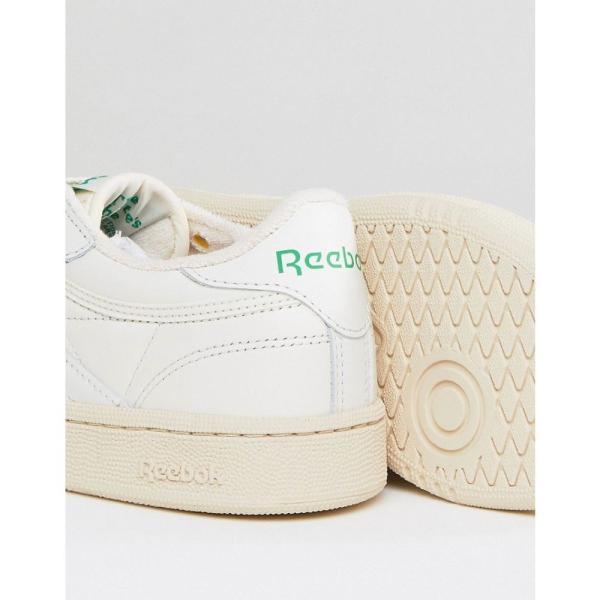 リーボック Reebok レディース スニーカー シューズ・靴 Classic Club C Vintage Trainers In Chalk With Green White