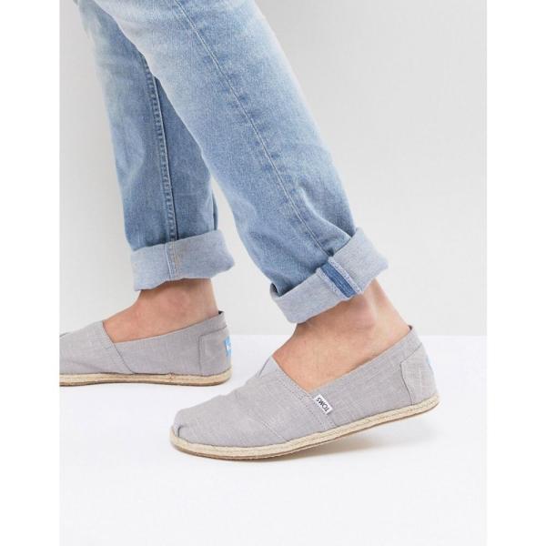 871b29a8b883 フェルマート fermart シューズトムス メンズ エスパドリーユ シューズ・靴 TOMS Classic Linen Espadrilles In  Grey Grey
