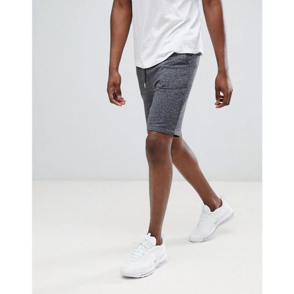 エイソス ASOS DESIGN メンズ ショートパンツ ボトムス・パンツ jersey skinny shorts in charcoal Dark grey|fermart