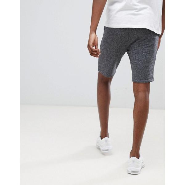 エイソス ASOS DESIGN メンズ ショートパンツ ボトムス・パンツ jersey skinny shorts in charcoal Dark grey|fermart|02