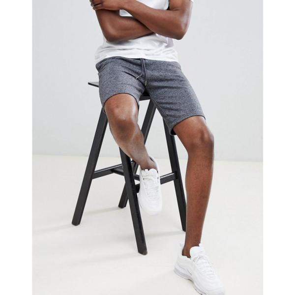 エイソス ASOS DESIGN メンズ ショートパンツ ボトムス・パンツ jersey skinny shorts in charcoal Dark grey|fermart|04