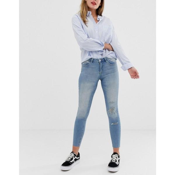 ジェイディーワイ JDY レディース ジーンズ・デニム ボトムス・パンツ Flora ripped skinny jeans Blue|fermart