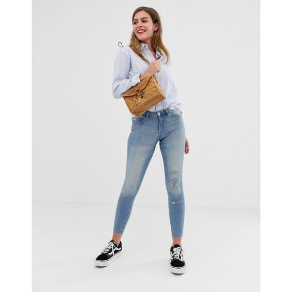 ジェイディーワイ JDY レディース ジーンズ・デニム ボトムス・パンツ Flora ripped skinny jeans Blue|fermart|04