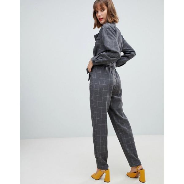 マンゴ Mango レディース オールインワン ワンピース・ドレス check jumpsuit Grey|fermart|02