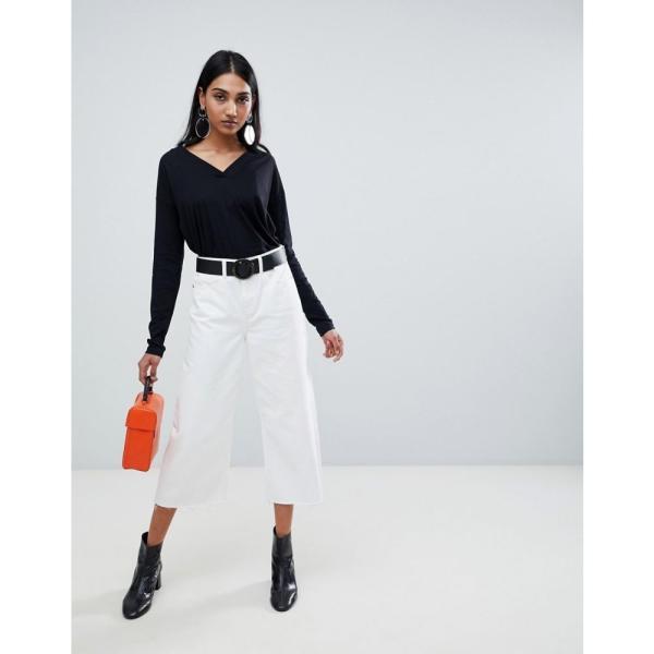 マンゴ Mango レディース トップス organic cotton long sleeve top in black Black fermart 04