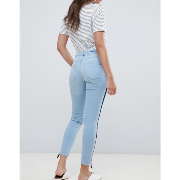 マンゴ Mango レディース ジーンズ・デニム ボトムス・パンツ sporty stripe jeans Denim blue fermart 02