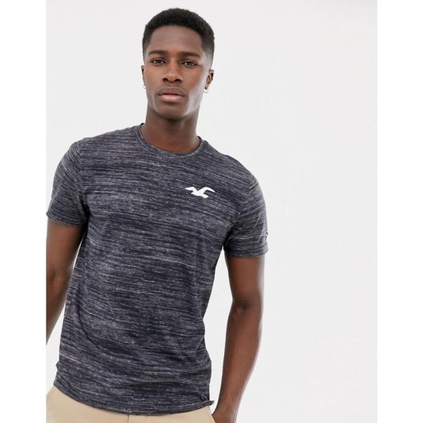 ホリスター Hollister メンズ Tシャツ トップス icon logo crew neck t-shirt with back print in grey texture Light grey/texture|fermart|02