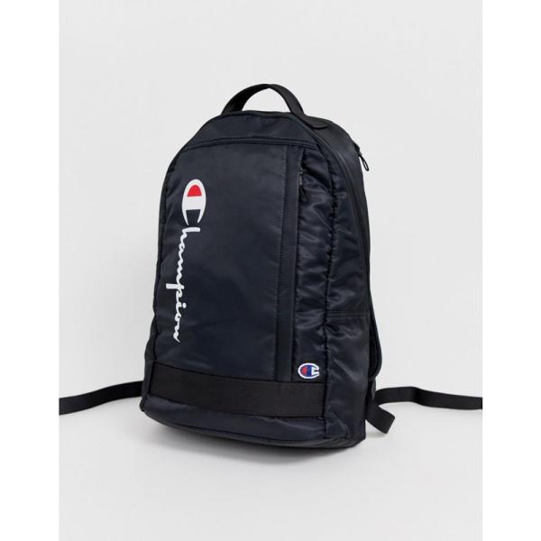 チャンピオン Champion レディース バックパック・リュック バッグ zip up backpack in black Black
