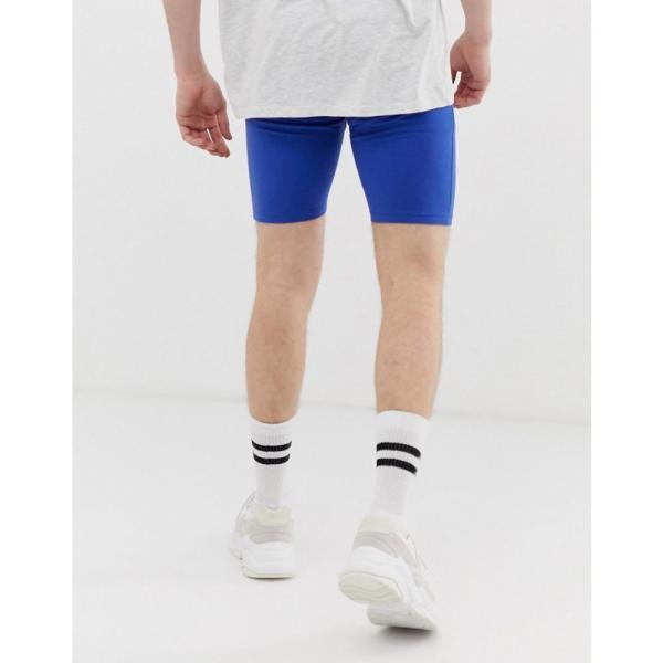 エイソス ASOS DESIGN メンズ ショートパンツ ボトムス・パンツ jersey megging shorts in blue Surf the web fermart 02