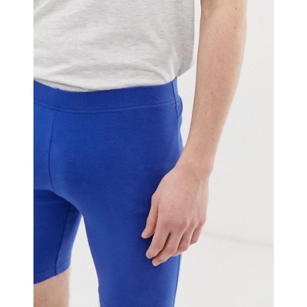 エイソス ASOS DESIGN メンズ ショートパンツ ボトムス・パンツ jersey megging shorts in blue Surf the web fermart 04