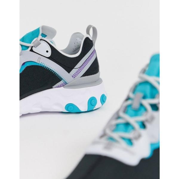 ナイキ Nike メンズ スニーカー シューズ・靴 React Element 55 trainers in black and teal Black/teal fermart 03
