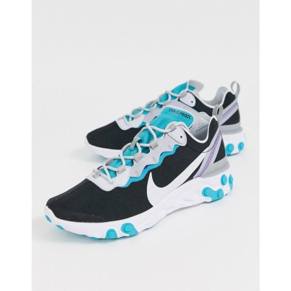 ナイキ Nike メンズ スニーカー シューズ・靴 React Element 55 trainers in black and teal Black/teal fermart 04