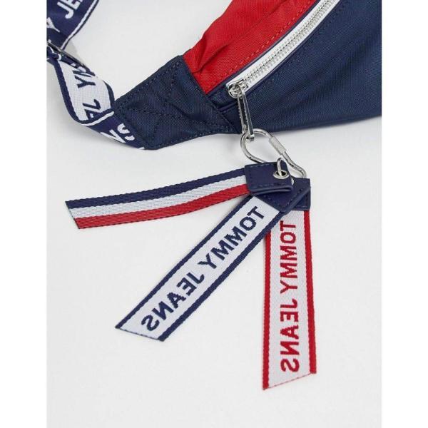 トミー ジーンズ Tommy Jeans レディース ボディバッグ・ウエストポーチ バッグ recycled polyester bumbag with logo tape Navy