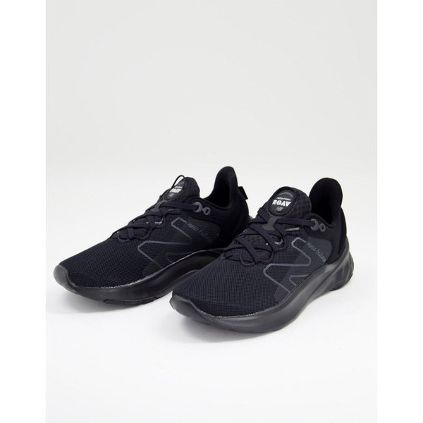 ニューバランス New Balance レディース ランニング・ウォーキング シューズ・靴 Running Fresh Foam Roav Trainers In Black And White ブラック/ホワイト